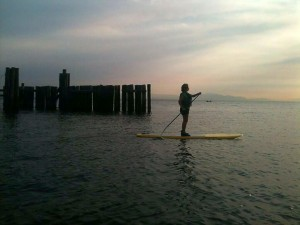 SUP at the Davis Bay Pier
