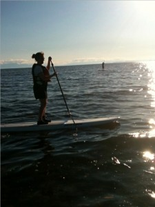 SUP on the Pacific Ocean